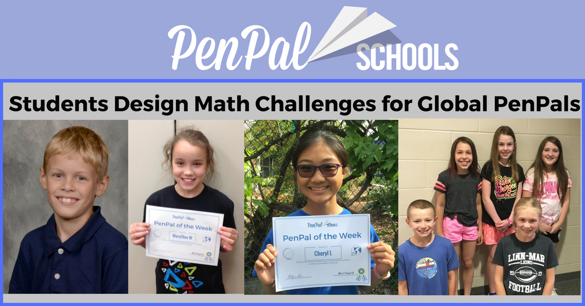 Students Design Math Challenges for Global PenPals - PenPal Schools