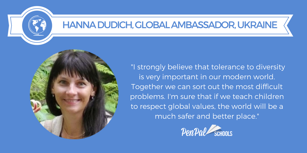 anna dudich global ambassador teacher quote image
