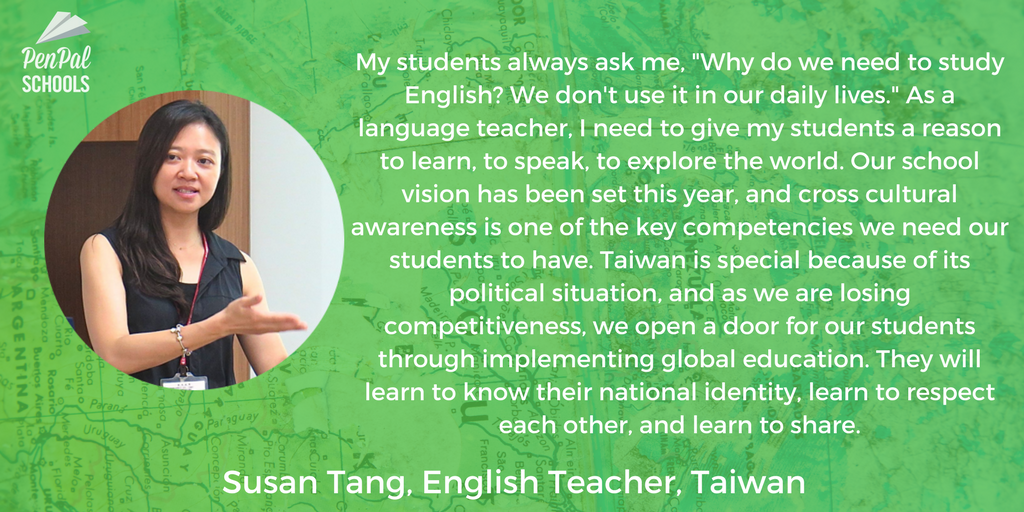 Picture of global ambassador teacher from taiwan